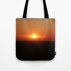 Sunset in Wiltshire England Tote Bag