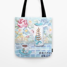 Coffee Chat Tote Bag