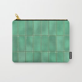Cyan Tiles Carry-All Pouch