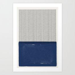 Navy Blue Mid Century  Art Print