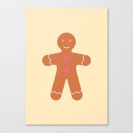 #89 Gingerbread Man Canvas Print