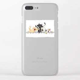 CATS DEAD OF LAUGHTER Clear iPhone Case