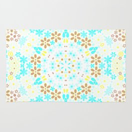 Abstract, floral pattern Rug
