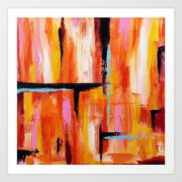 Abstract Orange 2 Art Print