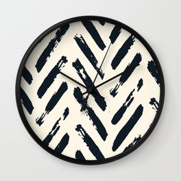 Retro Chevron Pattern 02 Wall Clock