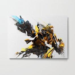 Bumblebee Digital Print Metal Print