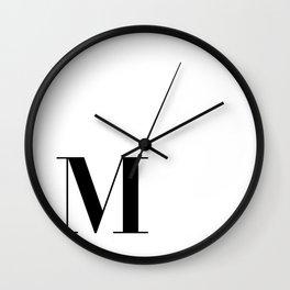 Initial M Wall Clock