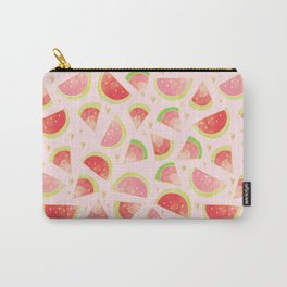 Watermelon Slices & Gold Hearts Carry-All Pouch