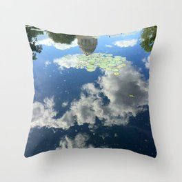 Reflection of Missouri Capitol at Governor's Garden Throw Pillow