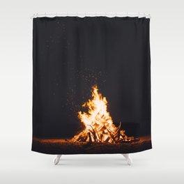 BONFIRE - FIRE - HOT - PHOTOGRAPHY Shower Curtain