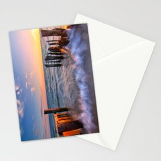 Rushing Waves at Sunset Stationery Cards