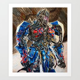 Optimus Prime Art Print