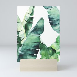 Tropical Banana Leaves Mini Art Print