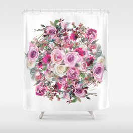 Bouquet of flowers - wreath Shower Curtain