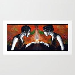Along the Edge: Mirror Image Art Print