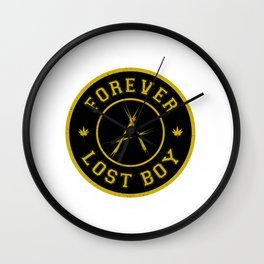 Lost Boy Badge Wall Clock