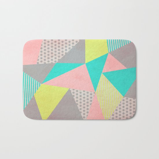 Geometric Pastel Bath Mat
