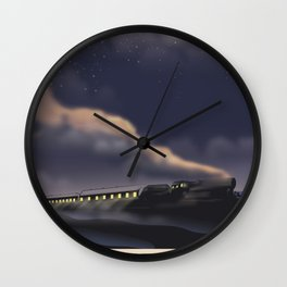 Night Train to Glasgow Wall Clock