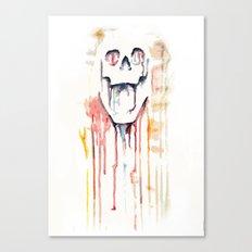 skull drips  Canvas Print