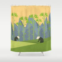 vietnam Shower Curtains featuring Vietnam by Illusorium