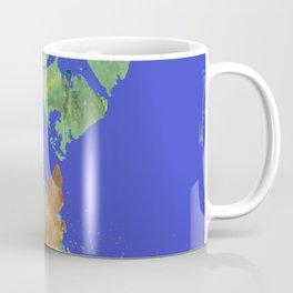 Oak Leaf on Royal Blue Painting Coffee Mug