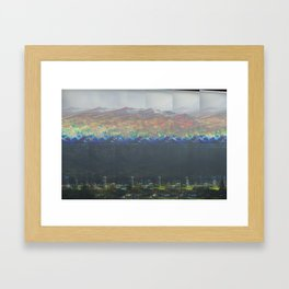 fiery mountains Framed Art Print