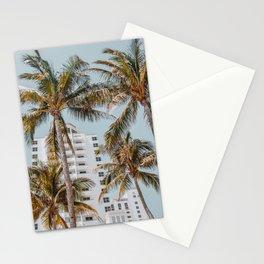 palm trees vii / miami beach, florida Stationery Cards