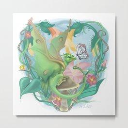 Spring Faerie Dragon Metal Print
