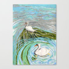 Two Swans Canvas Print