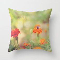 Summer Bee Throw Pillow
