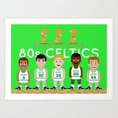 The 1980s Celtics Art Print