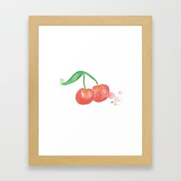 Cherry Bomb Framed Art Print