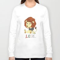 leon Long Sleeve T-shirts featuring Leon by eva vasari