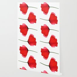 Two red poppies Wallpaper