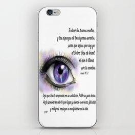 Ojo galaxia - Isaías 45, 3 iPhone Skin
