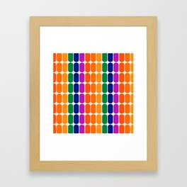 Rainbow Capsule Framed Art Print