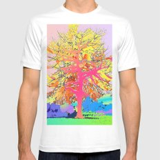 Color Tree MEDIUM White Mens Fitted Tee