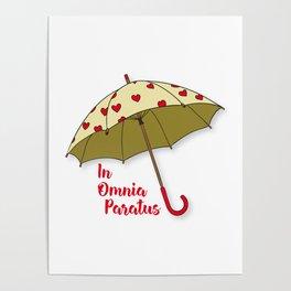 In Omnia Paratus - Umbrella Design Poster