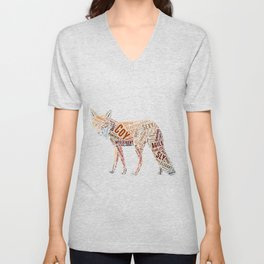 My Spirit Animal is a Fox Unisex V-Neck