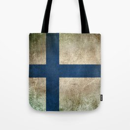 Old and Worn Distressed Vintage Flag of Finland Tote Bag