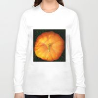 pumpkin Long Sleeve T-shirts featuring Pumpkin ^_^ by Julia Kovtunyak