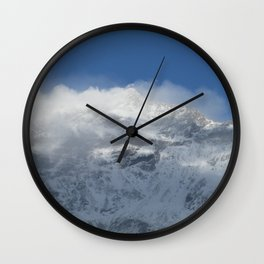 Snowy Peaks Wall Clock