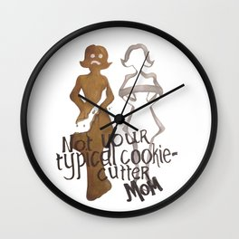 Cookie Cutter Mom Wall Clock