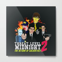 Geng Threat Level Midnight 2 Metal Print