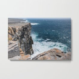 Cliffs off Dún Aonghasa Metal Print