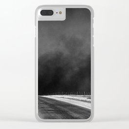 Vintage Country Road Landscape Clear iPhone Case