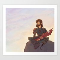 hiccup Art Prints featuring older hiccup by Ronnie
