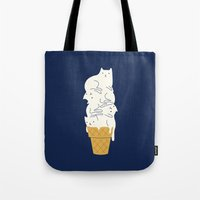 ilovedoodle Tote Bags featuring Meowlting by I Love Doodle