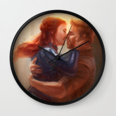 Alistair and Warden - Welcome Home Wall Clock