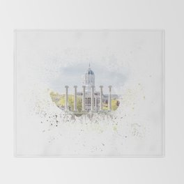 Mizzou Columns Splash Throw Blanket